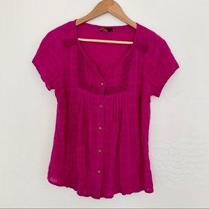 Prana button up blouse
